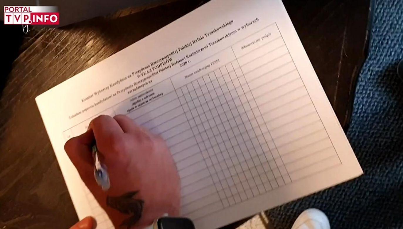 Jeszcze kilka dni temu Zgorzelski proponował pomoc w zbieraniu podpisów poparcia kandydatowi PO (fot. portal tvp.info)