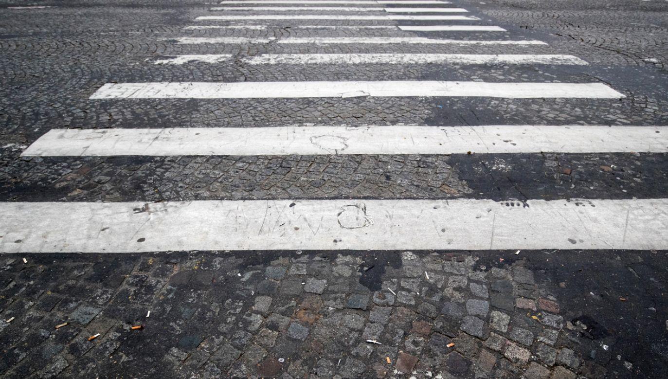 Do wypadku doszło na przejściu dla pieszych (fot. Reuters Philippe Wojazer)