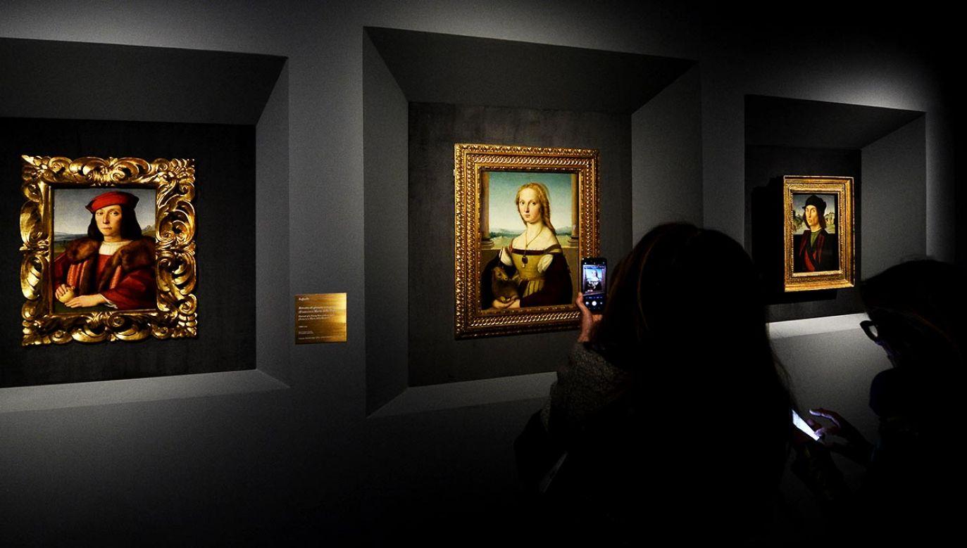 Ekspozycja, przygotowana we współpracy m.in. z Muzeami Watykańskimi, Galerią degli Uffizi, Galerią Borghese i Parkiem Archeologicznym Koloseum, miała pozostać otwarta do 2 kwietnia (fot. Roberto Serra - Iguana Press/Getty Images)