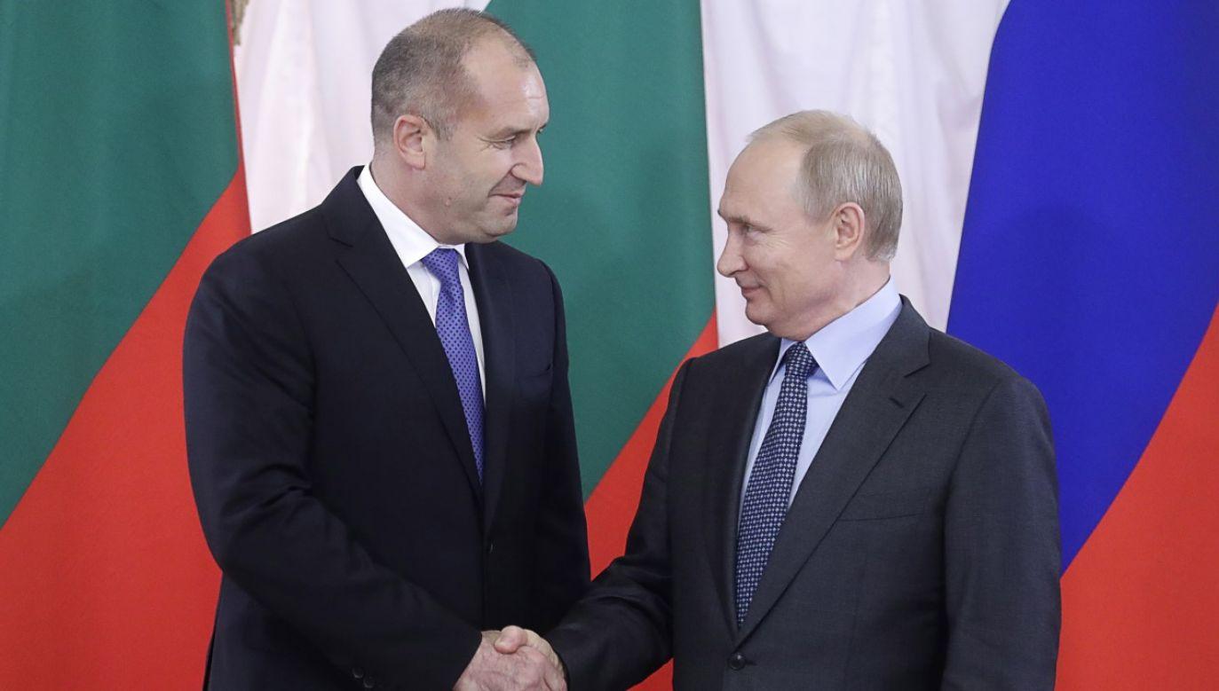 Preydent Bułgarii Rumen Radew i prezydent Rosji Władimir Putin w Sankt Petersburgu w 2019r. (fot. Mikhail Metzel\TASS via Getty Images)