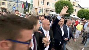 Rafał Trzaskowski odpowiedzi nie udzielił (fot. TVP Info)