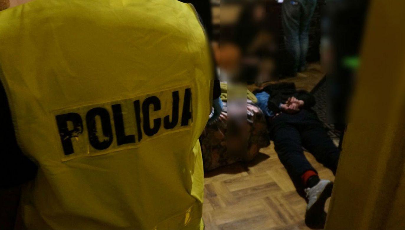"""Zatrzymania """"dilerów śmierci"""" z Zawiercia (fot. slaska.policja.gov.pl)"""