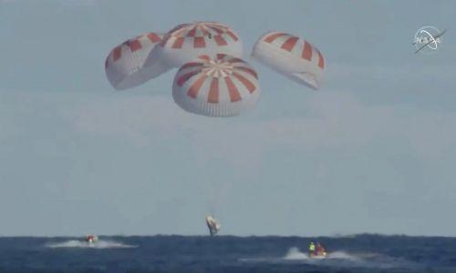 8 marca 2019 roku kapsuła Crew Dragon bezpiecznie wylądowała na Atlantyku. Fot. NASA/Reuters