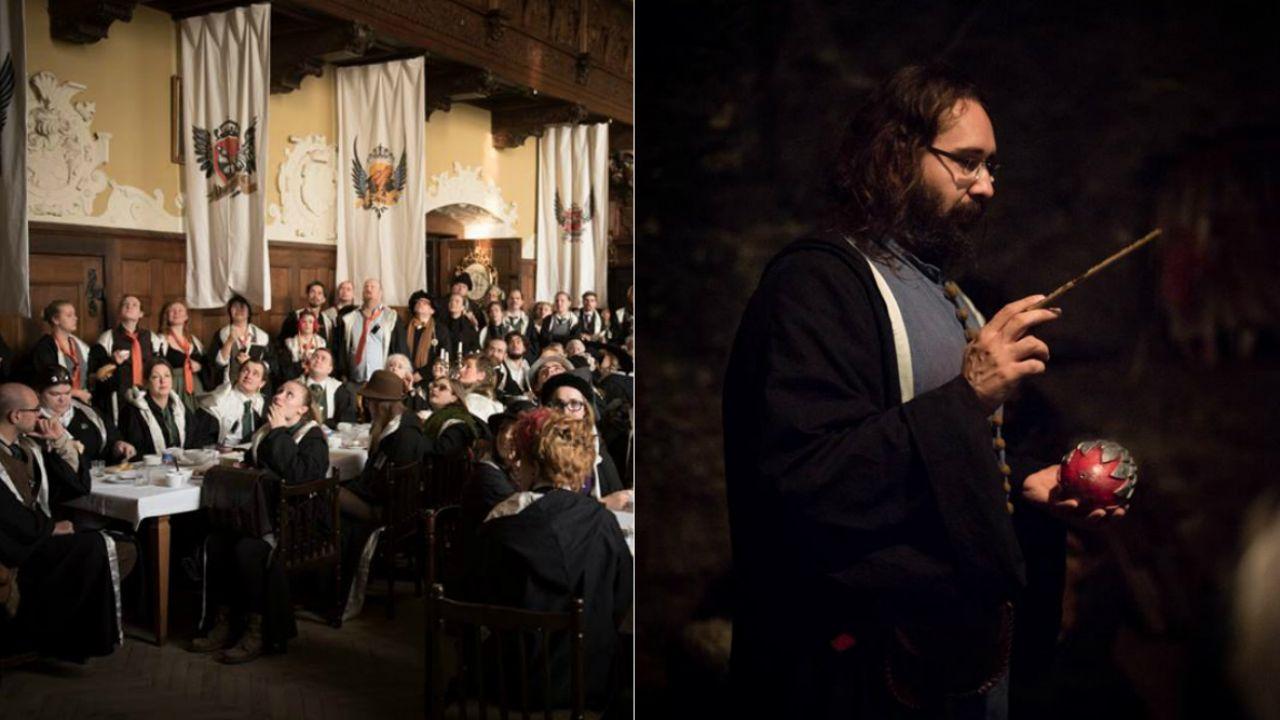 Na zamku Czocha każdy może zamienić się w czarodzieja (fot. Facebbok/John-Paul Bichard)
