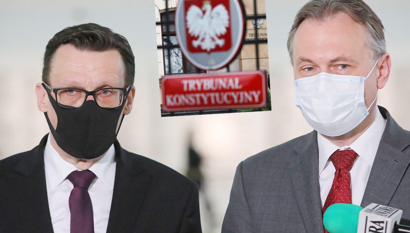 Zarzuty o ryzyku zerwania ciągłości urzędu RPO nie mają podstaw – uważają posłowie Marek Ast i Arkadiusz Mularczyk (fot. PAP/Wojciech Olkuśnik; Leszek Szymański)