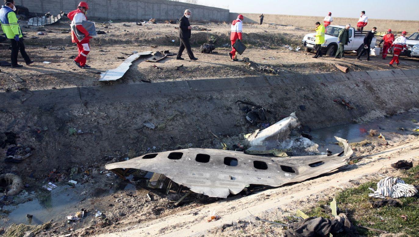 Boeing 737-800 linii Ukraine International Airlines, odbywający rejs z Teheranu do Kijowa, został zestrzelony przez irańską obronę przeciwlotniczą 8 stycznia w okolicach irańskiej stolicy (fot. PAP/EPA/ABEDIN TAHERKENAREH)