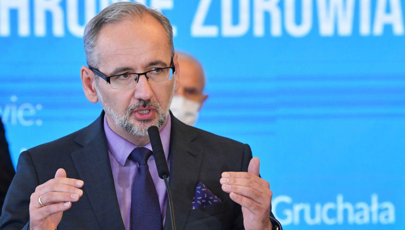Minister zdrowia Adam Niedzielski (fot. PAP/Radek Pietruszka)