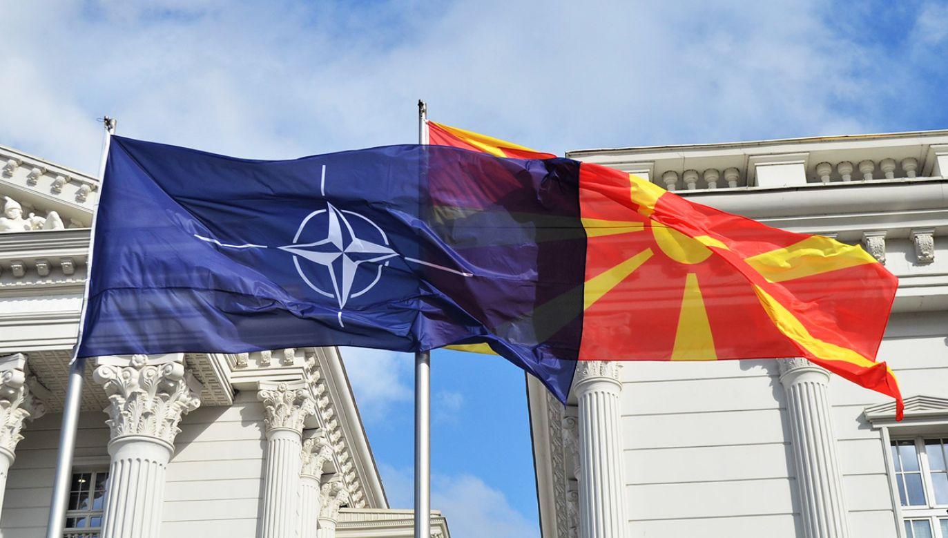 Warunkiem przystąpienia Macedonii Płn. do NATO była ratyfikacja rozszerzenia Sojuszu przez parlamenty krajów członkowskich (fot. Husamedin Gina/Anadolu Agency/Getty Images)
