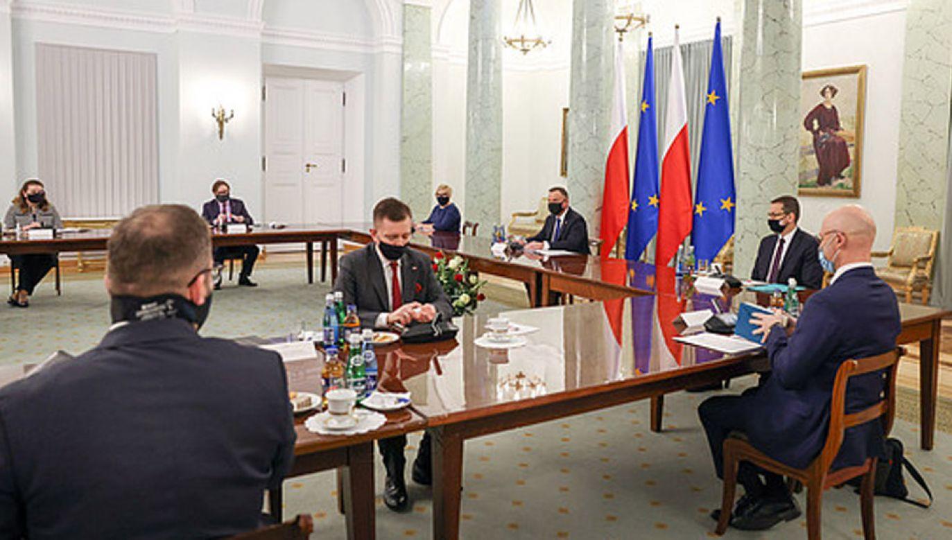 Spotkanie w Pałacu Prezydenckim (fot. KPRP/Jakub Szymczuk)