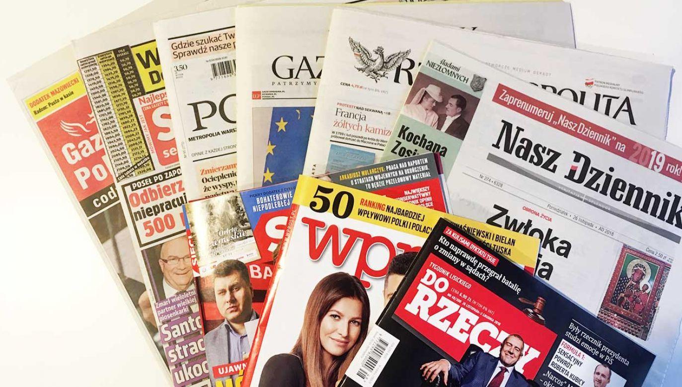 Przegląd prasy codziennie w TVP Info (fot. portal tvp.info)