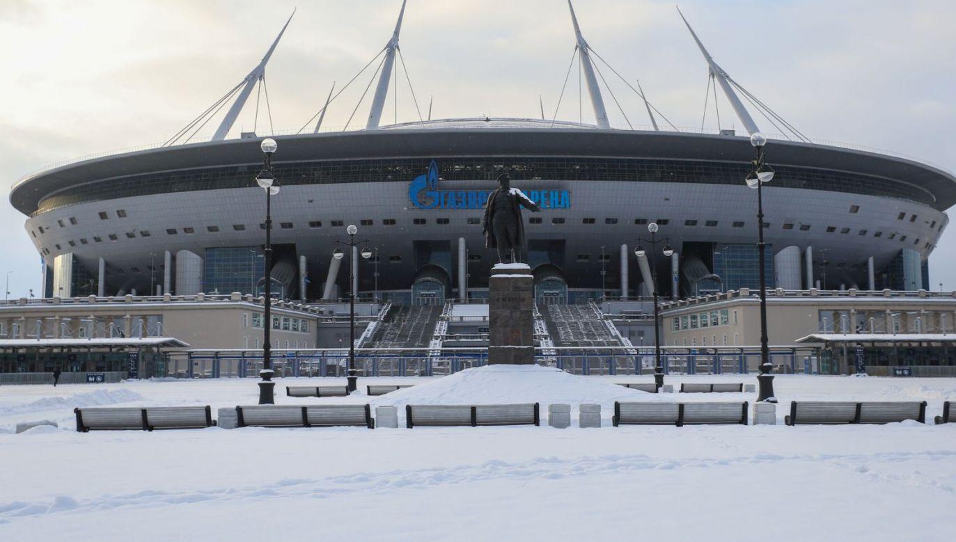 Rosja, Sankt Petersburg. Na tym stadionie mają zostać rozegrane cztery mecze Euro 2020 (fot. Getty Images)