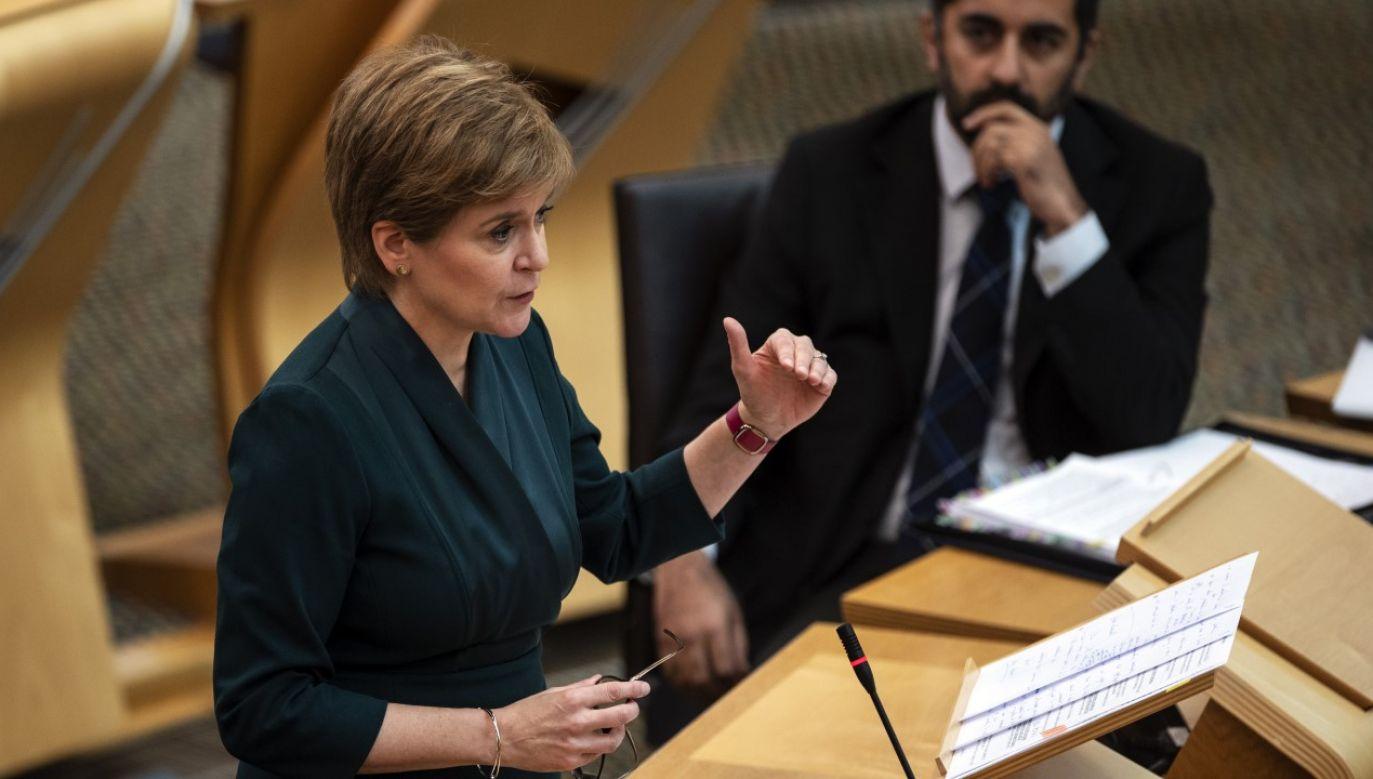 Nicola Sturgeon zmuszona była poprosić Anglię o pomoc (fot. Andy Buchanan - Pool/Getty Images)