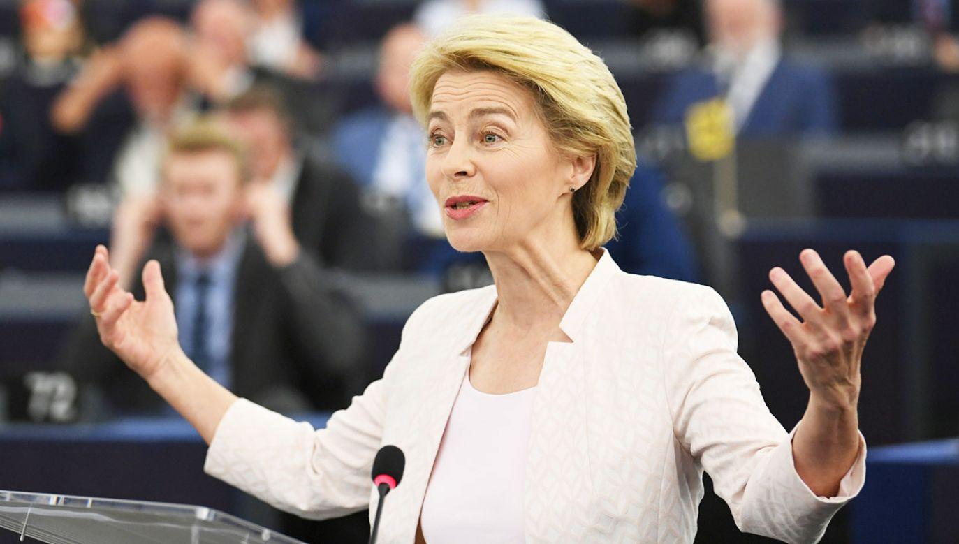 We wtorek wieczorem w Strasburgu odbędzie się głosowanie nad kandydaturą Ursuli von der Leyen na szefową Komisji Europejskiej (fot. PAP/EPA/PATRICK SEEGER)