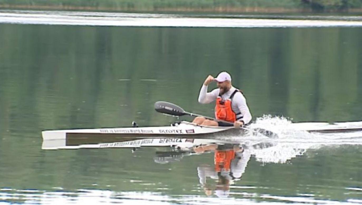 To trzecie podejście Sebastiana Szubskiego do pobicia rekordu z 2013 roku (fot. TVP3 Bydgoszcz)