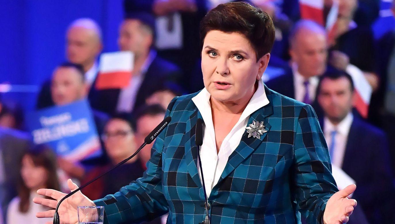 Beata Szydło (fot. PAP/Wojtek Jargiło)