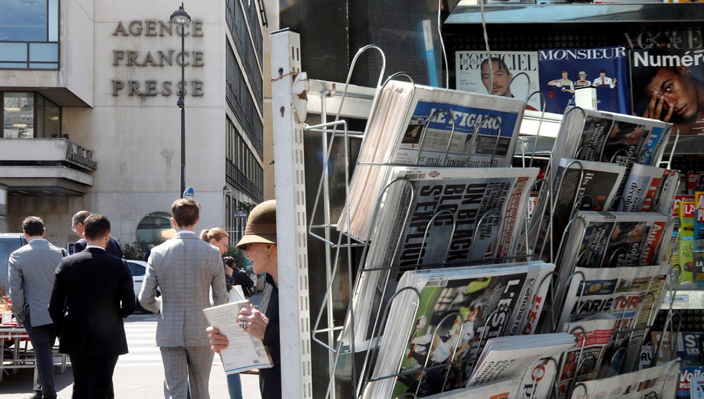 """""""Dziennikarka AFP zamiast ścigać fake newsy – manipuluje"""" czytamy w artykule (fot. REUTERS/Charles Platiau)"""