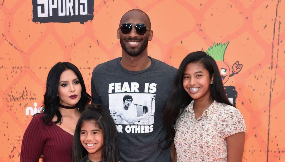 Od lewej: Vanessa, Gianna, Kobe i Natalia na imprezie Nickelodeon Kids w 2016 roku (fot. Getty)