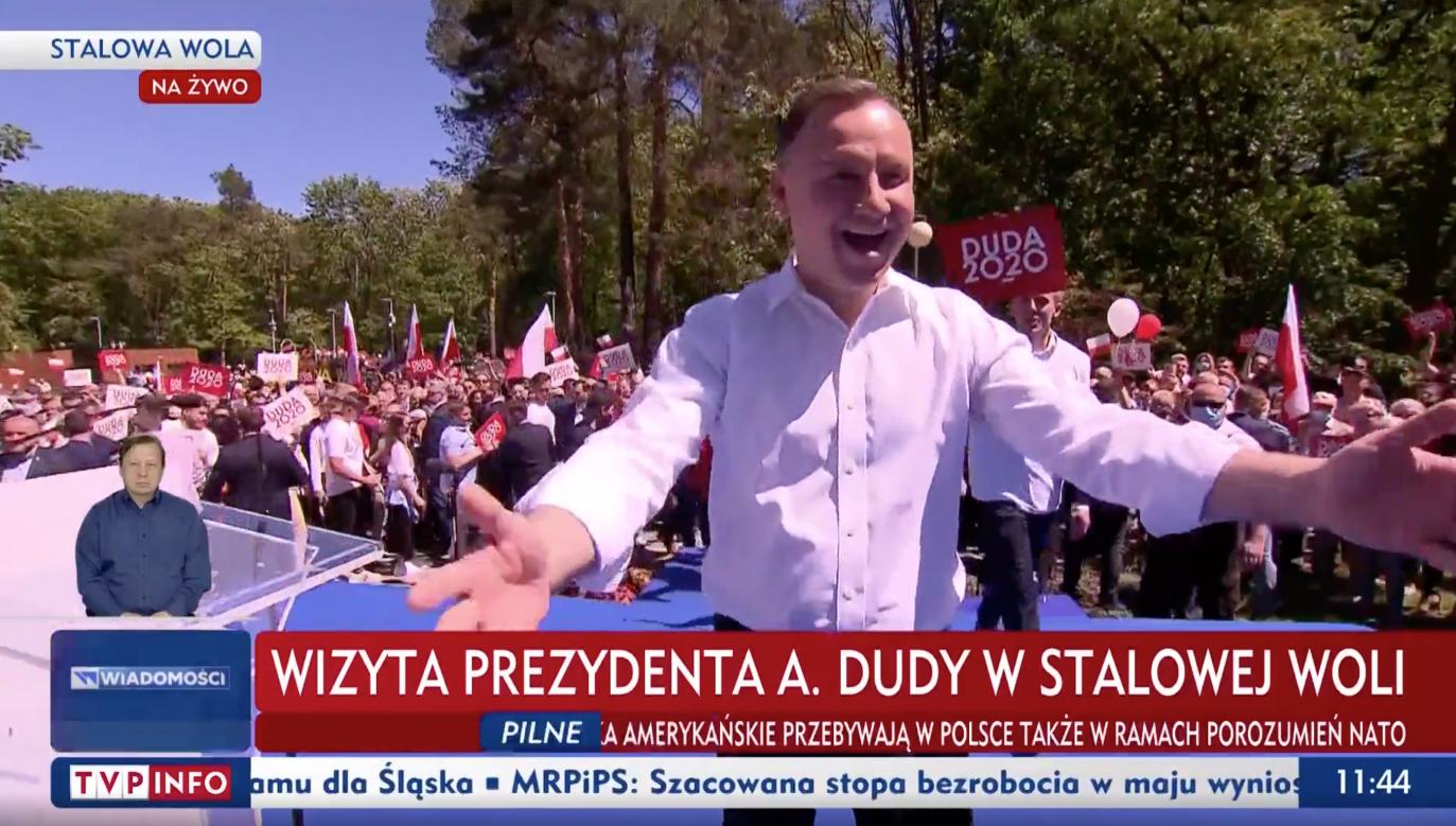 Prezydent RP Andrzej Duda w Stalowej Woli (fot. TVP Info)