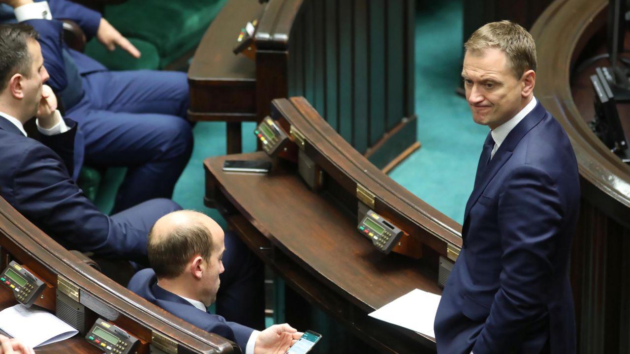 Posłowie PO Sławomir Nitras i Borys Budka (fot. arch. PAP/Leszek Szymański)