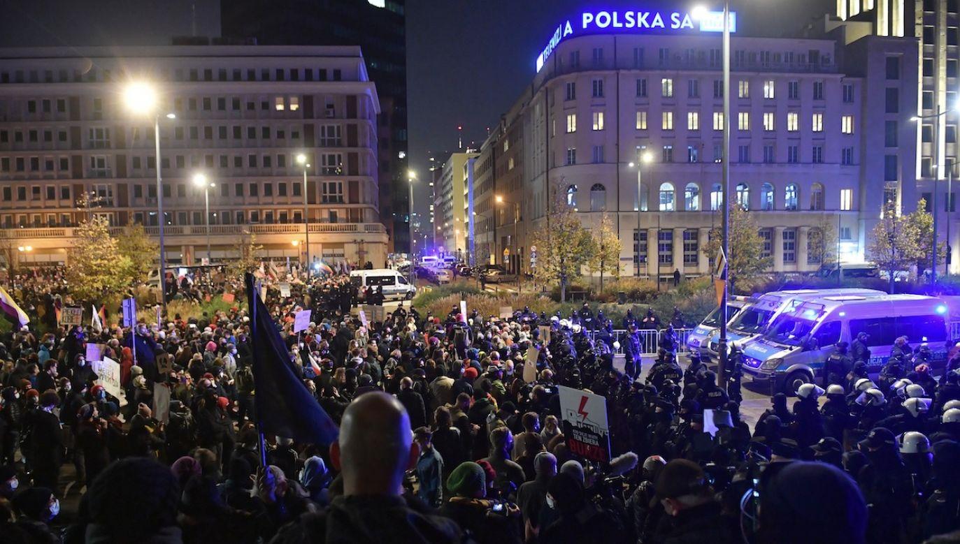 Chodzi o zgromadzenie, które miało miejsce 18 listopada (fot. arch.PAP/Radek Pietruszka)