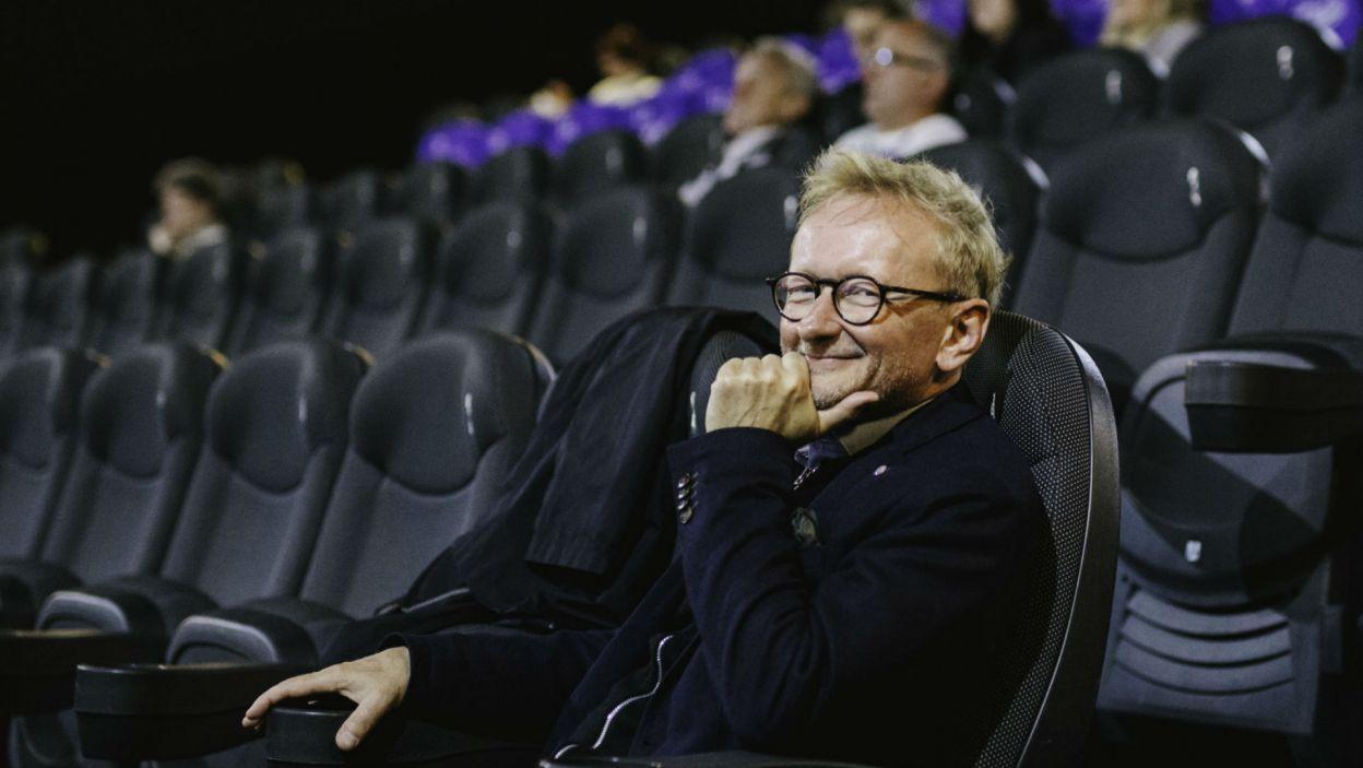 Andrzej Mastalerz w roli widza (fot. S. Loba/TVP)