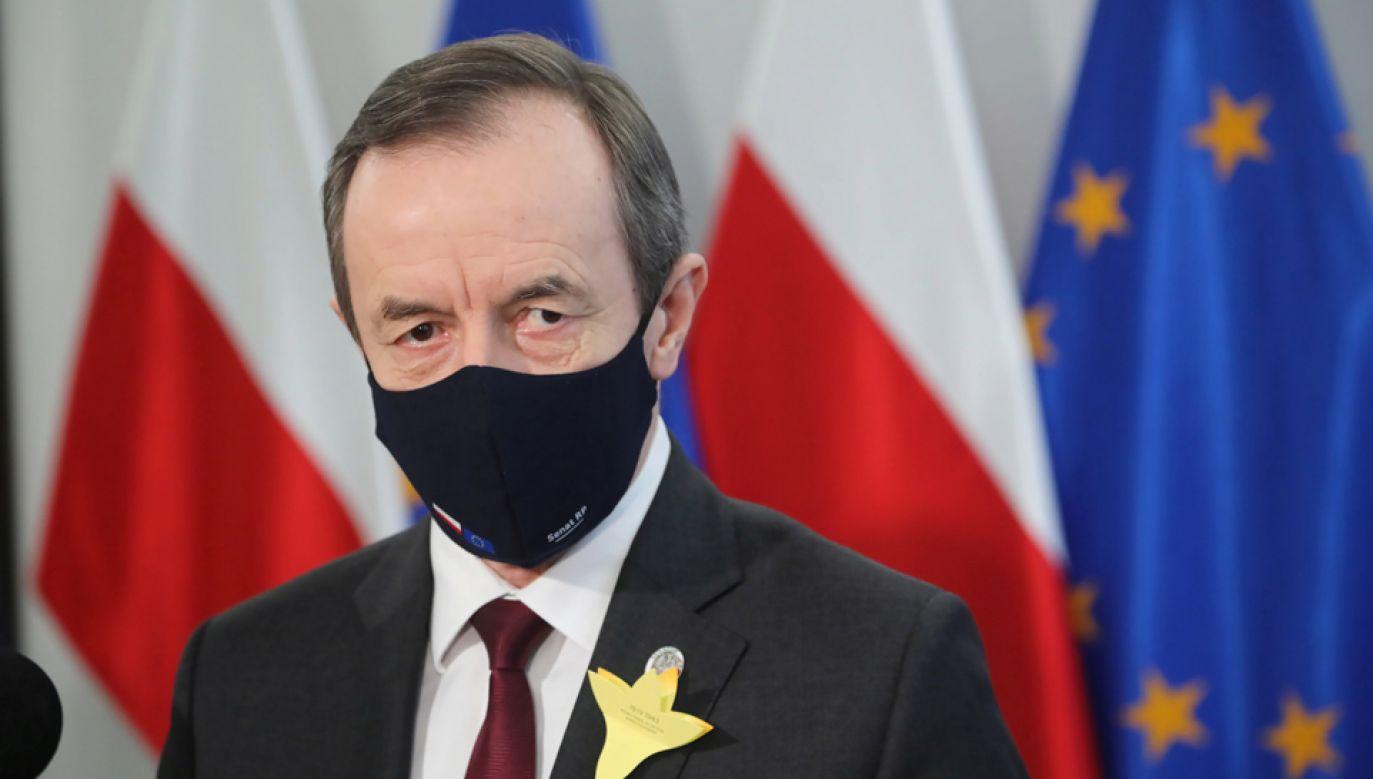 Marszałek Senatu Tomasz Grodzki (fot. PAP/Wojciech Olkuśnik)