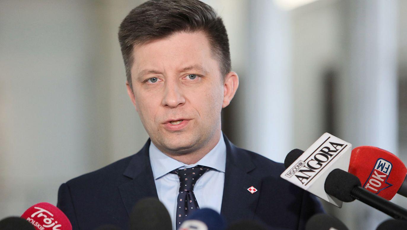 Szef Kancelarii Prezesa Rady Ministrów Michał Dworczyk (fot. arch.PAP/Leszek Szymański)
