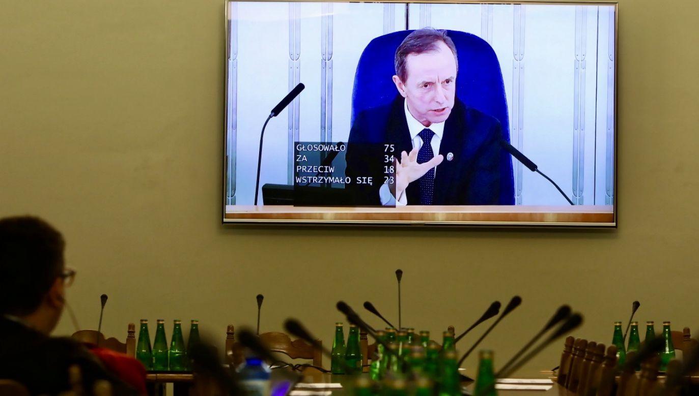 Senat ma 30 dni na procedowanie ustawy (fot. PAP/Wojciech Olkuśnik)