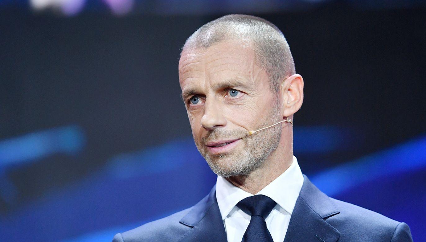 Aleksander Ceferin zapowiedział podjęcie radykalnych działań przeciwko piłkarzom zaangażowanym w Superligę (fot. Harold Cunningham - UEFA/UEFA via Getty Images)