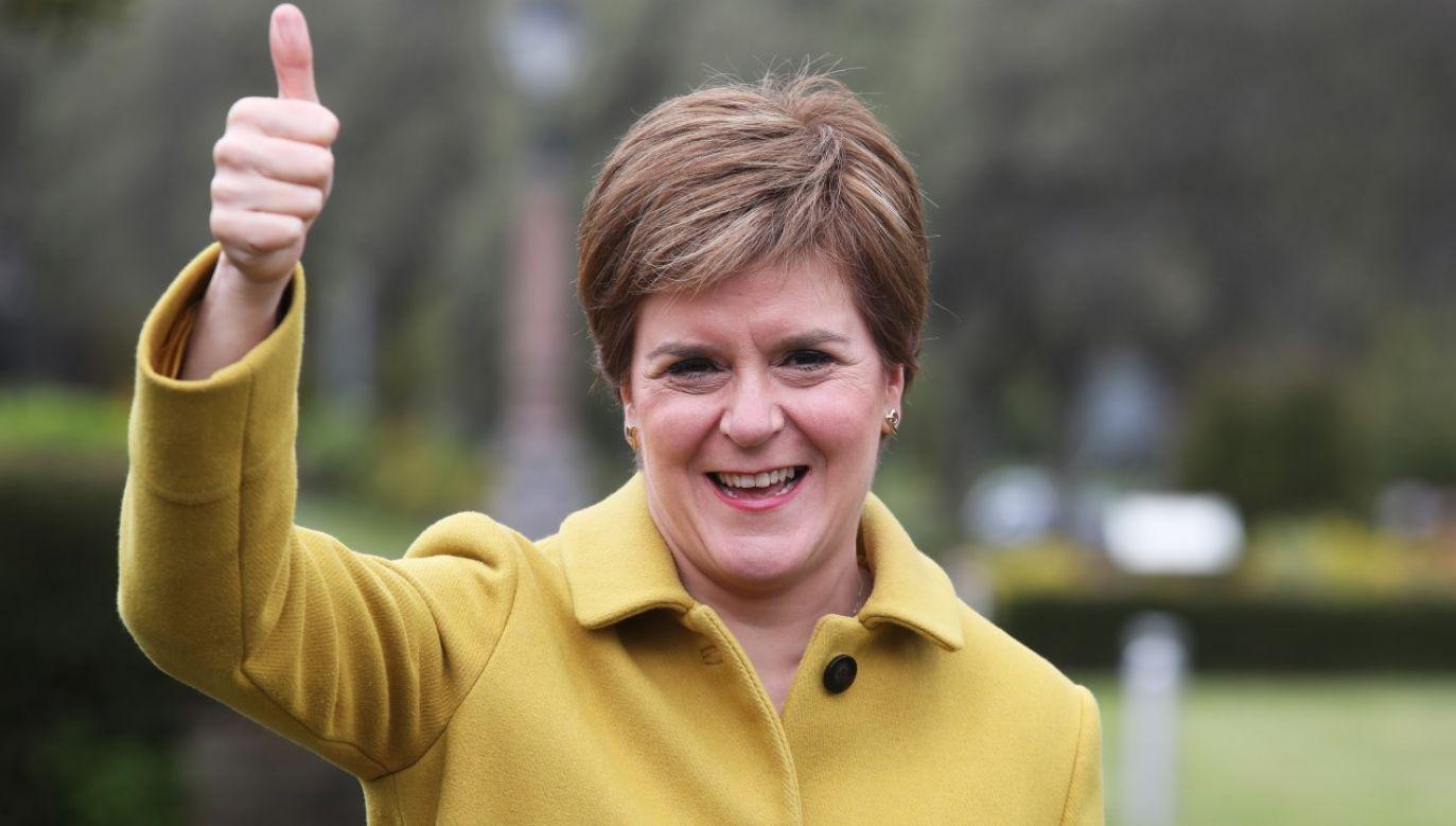 Szefowa rządu Szkocji Nicola Sturgeon chce przeprowadzić kolejne referendum ws. niepodległości (fot. Andrew Milligan - Pool/Getty Images)