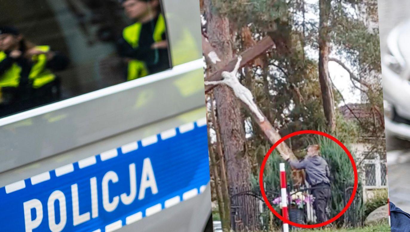 31-latek zatrzymany przez policję w związku ze zniszczeniem krzyża w Zielonej Górze (fot. Shutterstock; TT)