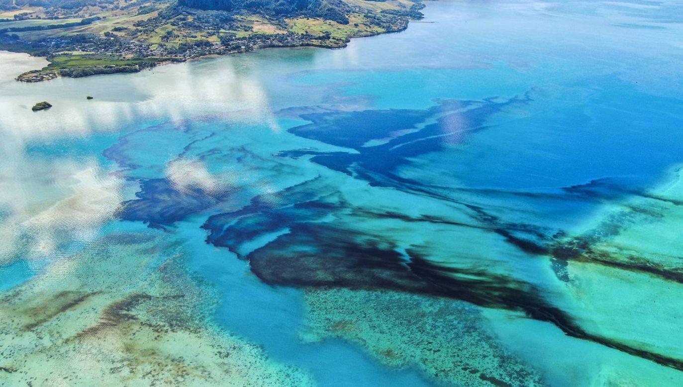 W piątek władze Mauritiusa ogłosiły stan katastrofy ekologicznej (fot.PAP/EPA/PIERRE DALAIS)
