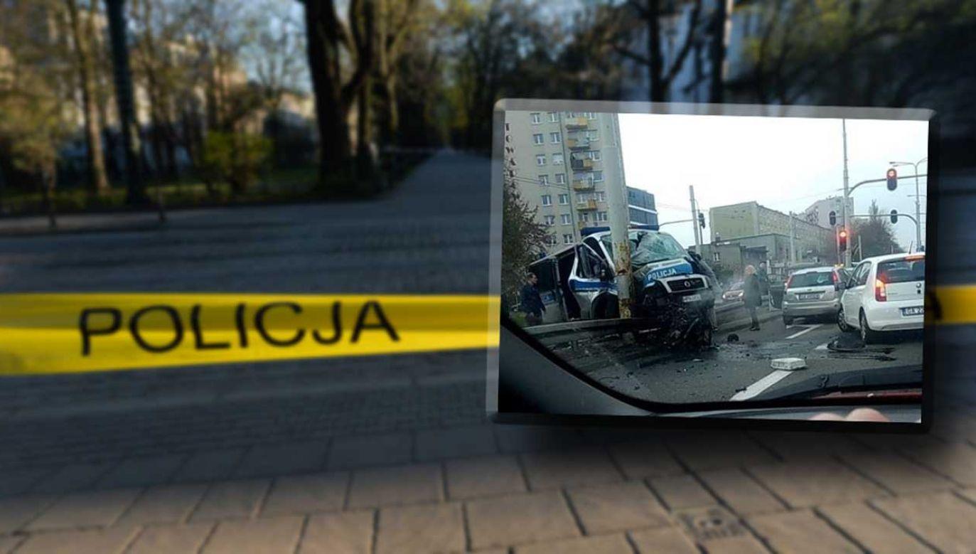 Do wypadku radiowozu doszło na ulicy Morskiej w Gdyni (fot. remiza.pl; Artur Widak/NurPhoto via Getty Images)