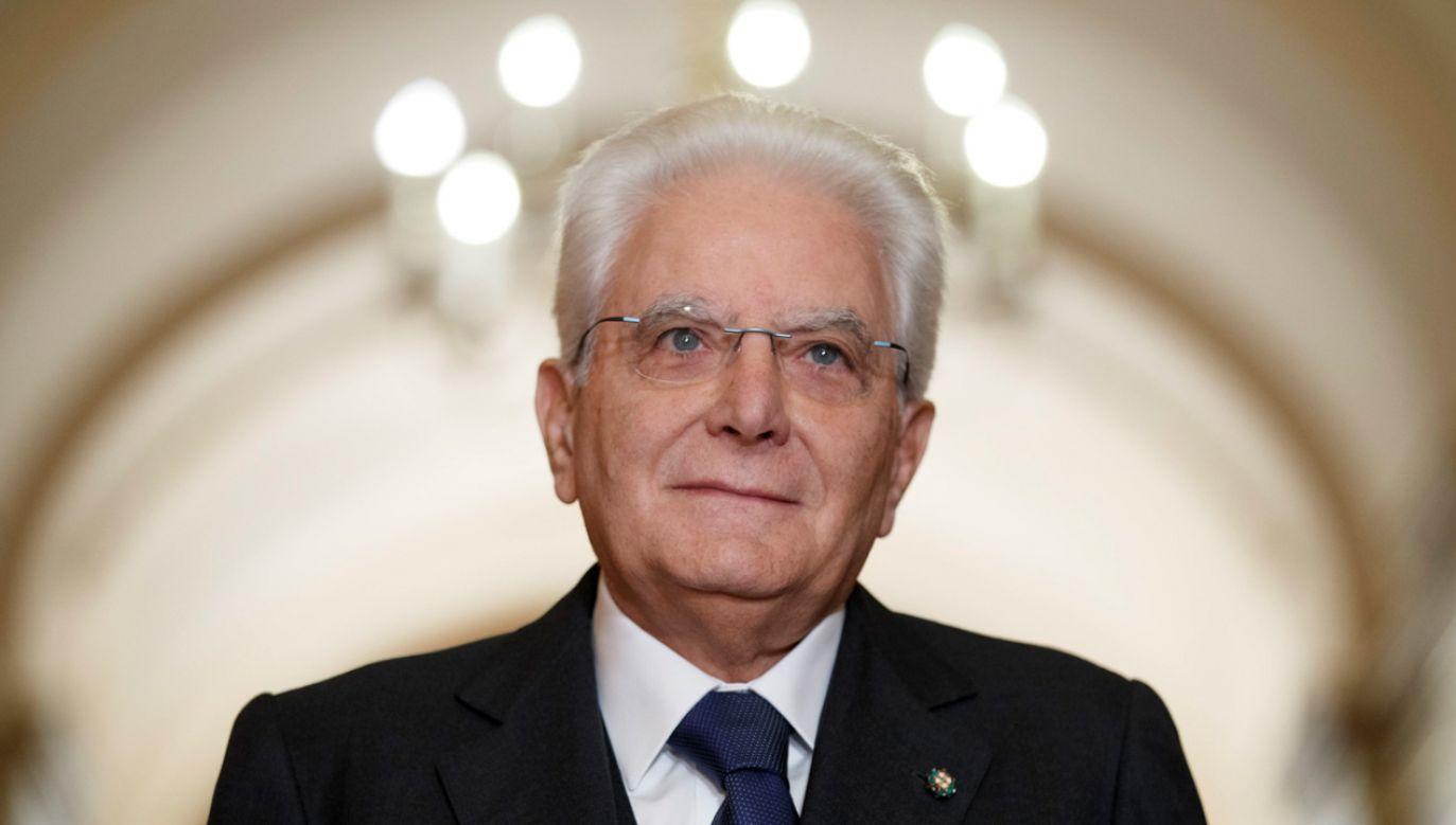 Prezydent Sergio Mattarella powiedział, że solidarność i jedność Unii Europejskiej leży w interesie wszystkich (fot. PAP/EPA/SHAWN THEW)