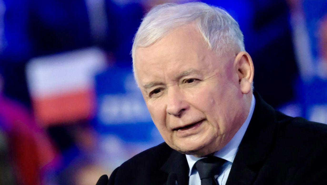 Wicepremier, prezes PiS Jarosław Kaczyński (fot. Sean Gallup/Getty Images)