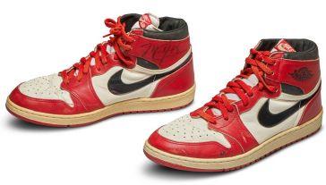 Buty Air Jordan I osiągnęły rekordową cenę na aukcji (fot. Sotheby's)