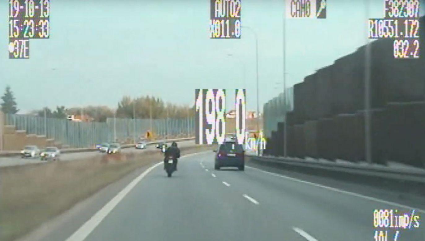 51-latek nie miał uprawnień do kierowania motocyklem (fot. gdansk.policja.gov.pl)