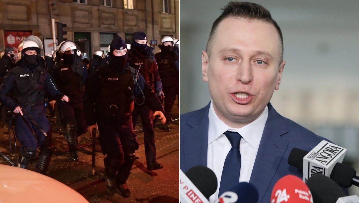 KSP zapewnia, że wpis polityka to fejk (fot. PAP/Radek Pietruszka, arch.PAP/Leszek Szymański)