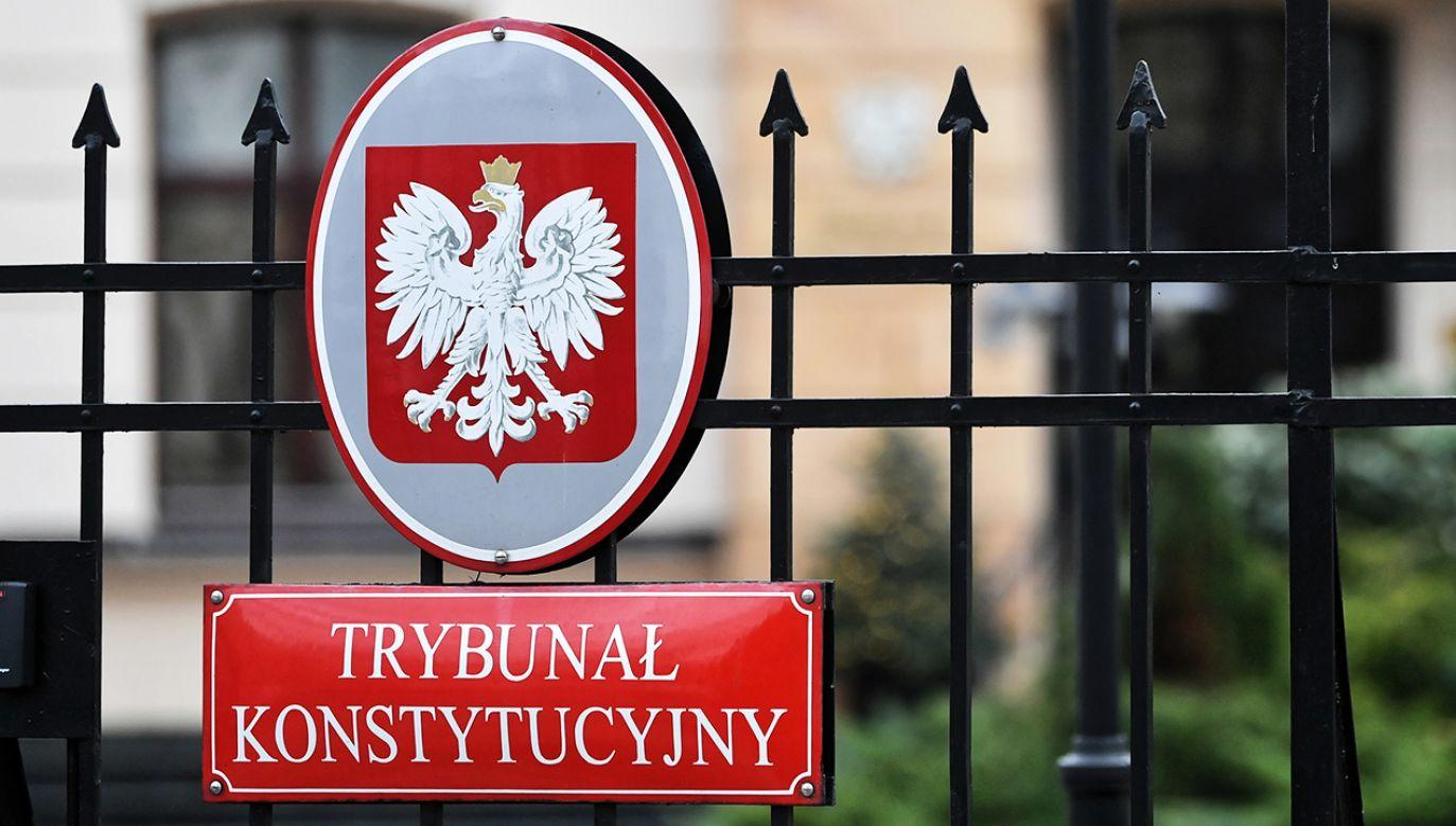 Według rzecznika prezydenta tylko Trybunał Konstytucyjny może badać zgodność przepisów z ustawą zasadniczą.(fot.  arch. PAP/Bartłomiej Zborowski)