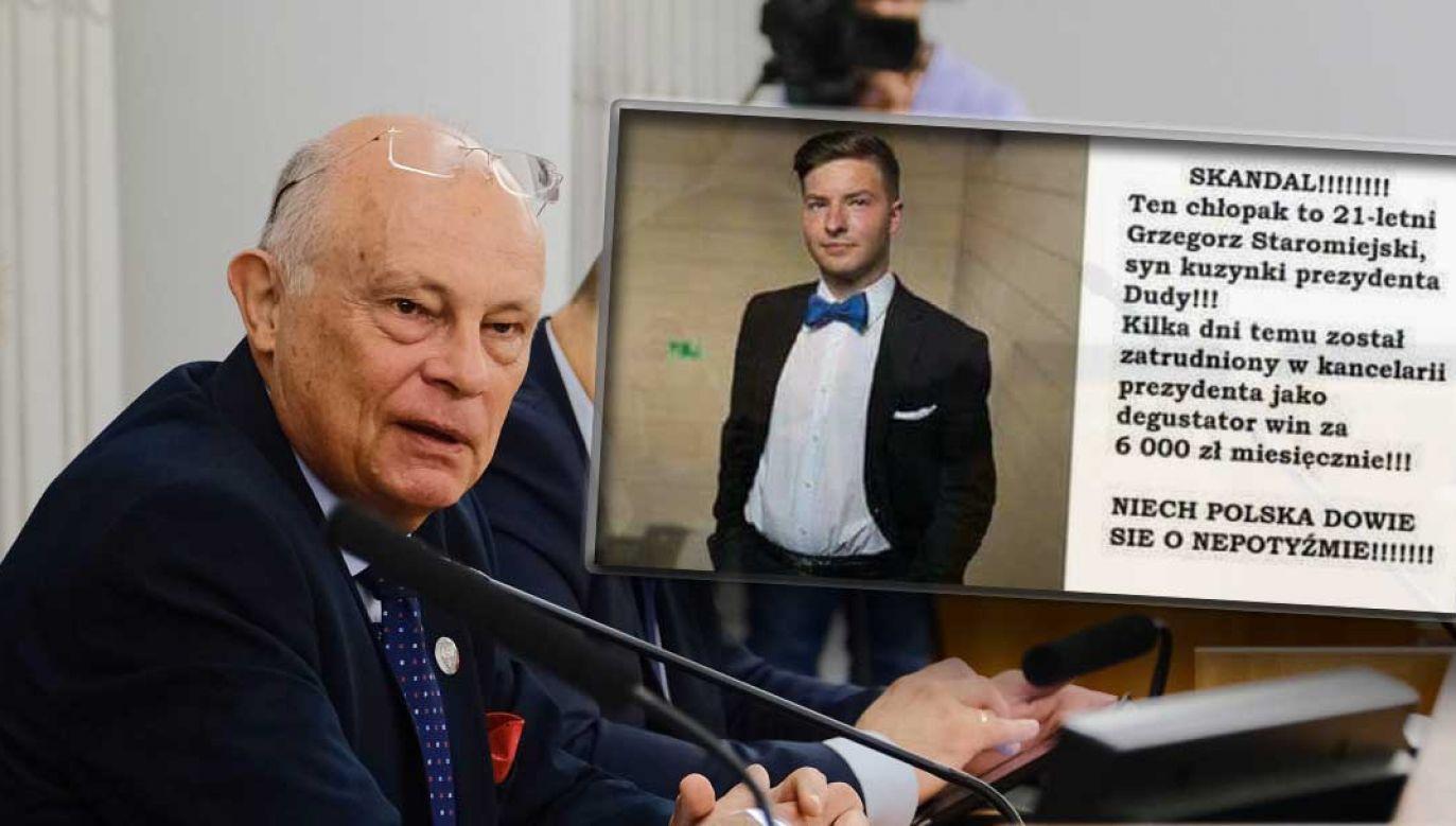 Od kilku dni w sieci krąży nieprawdziwa informacja o rzekomym sommelierze w kancelarii prezydenta (fot. PAP/Mateusz Marek)