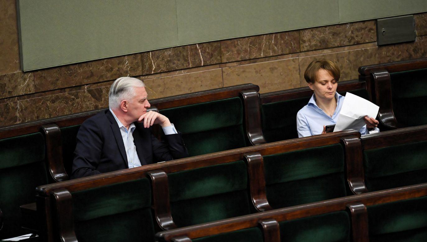 Jarosław Gowin i Jadwiga Emilewicz (fot. arch.PAP/ Radek Pietruszka)