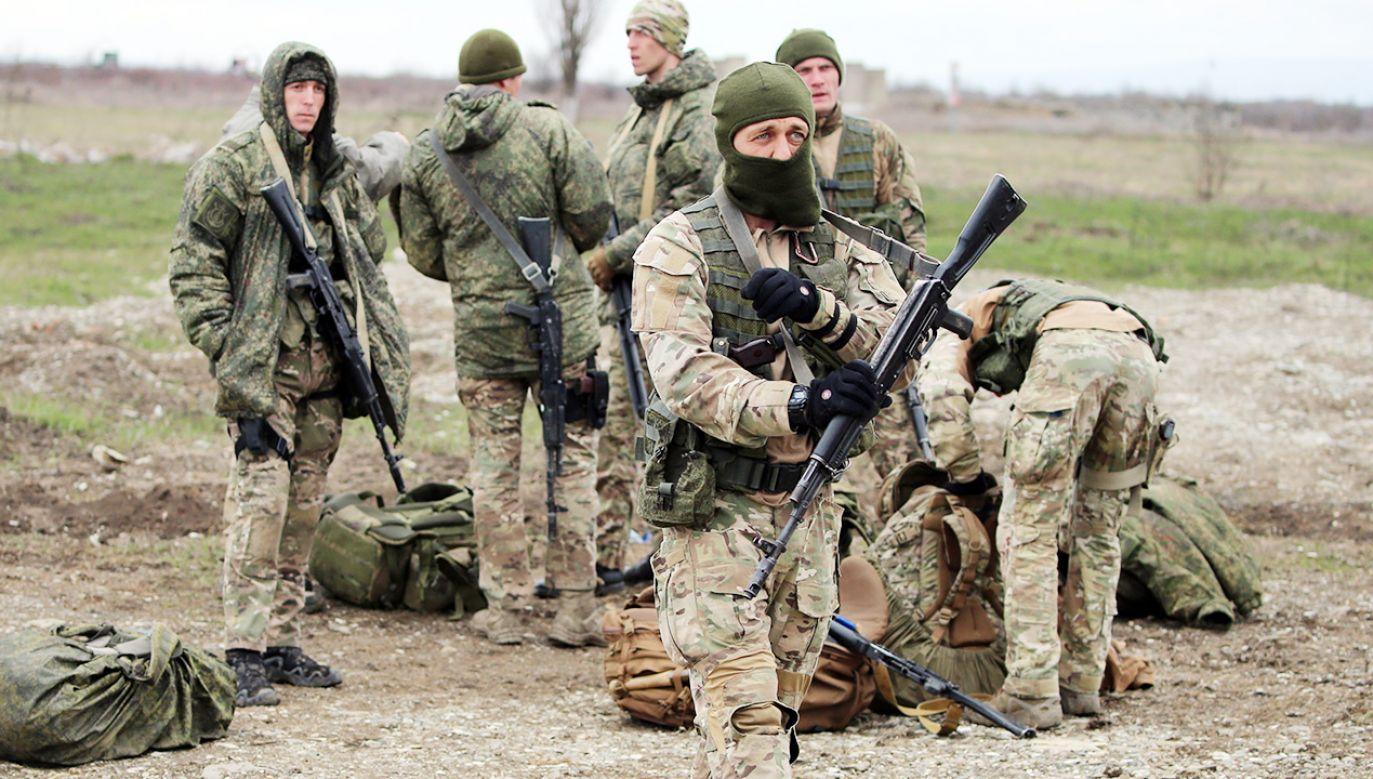 Rosyjscy żołnierze przy granicy z Ukrainą (fot. Yelena Afonina\TASS via Getty Images)