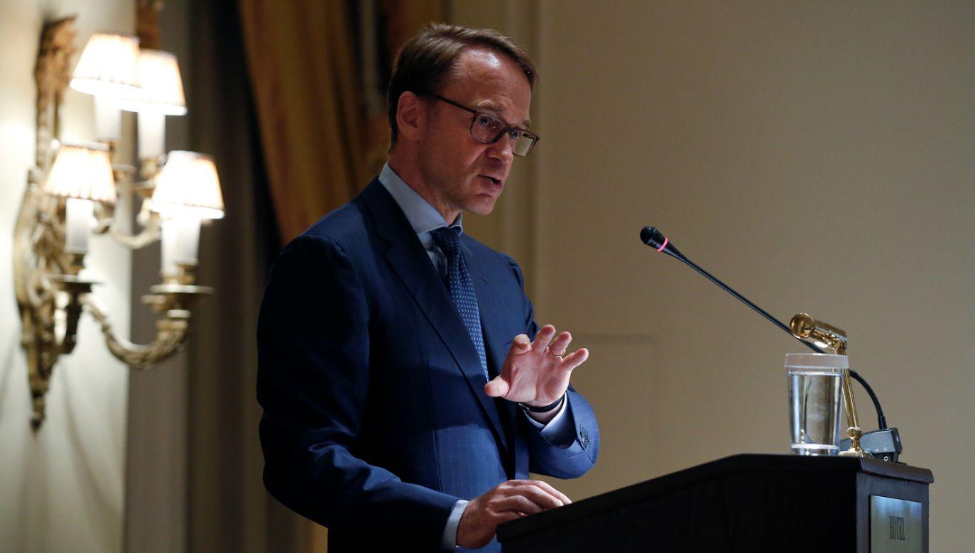 Realizacja celów środowiskowych stwarza ryzyko przeciążenia polityki monetarnej - ostrzega Weidmann (fot. Reuters/Alkis Konstantidinis)