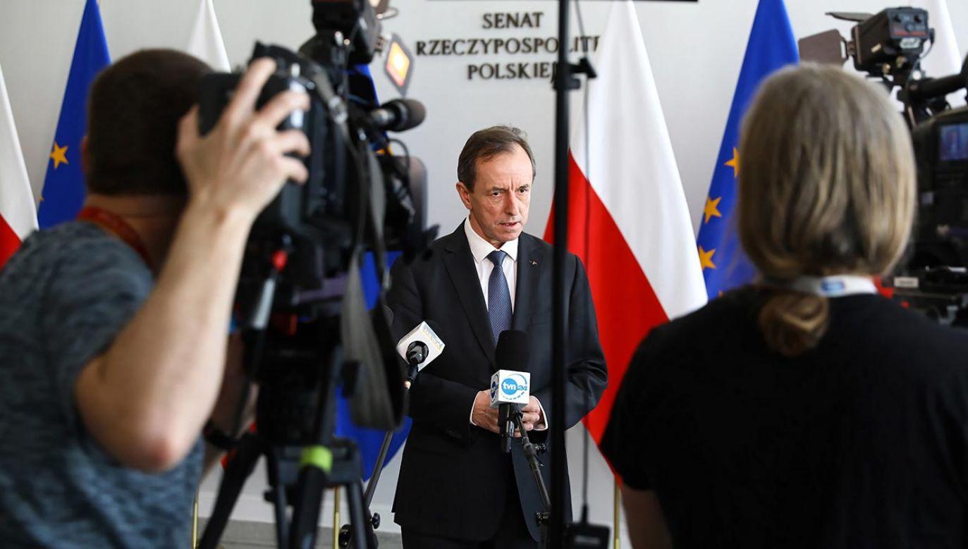 Połączone senackie komisje pracują dziś nad ustawą ws. wyborów prezydenckich (fot. arch. PAP/Rafał Guz)