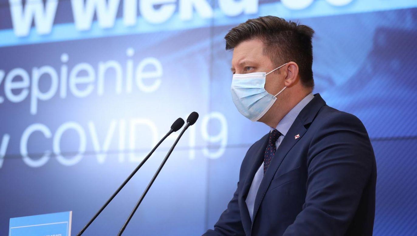 Konferencja Jarosława Gowina (fot. KPRM)