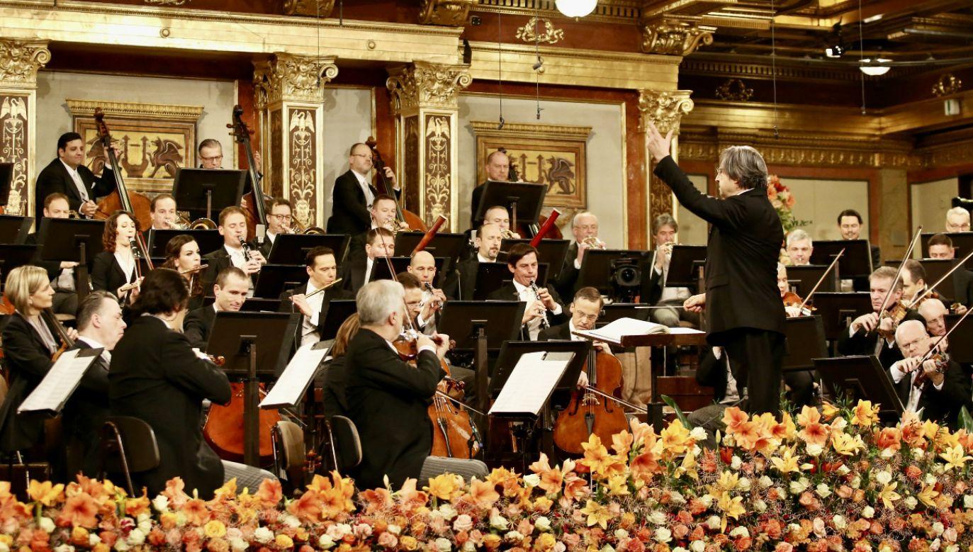 Wiedeńscy filharmonicy w Nowy Rok (fot. PAP/EPA/DIETER NAGL)