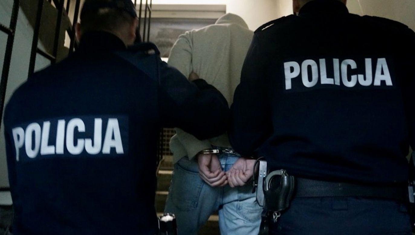 Dalszym losem mężczyzny zajmie się sąd i prokuratura (fot. Komenda Powiatowa Policji w Będzinie)