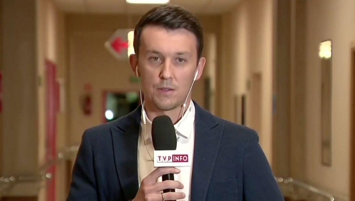Dawid Celt, polski tenisista i trener, sparingpartner, drugi trener i mąż Agnieszki Radwańskiej (fot. TVP Info)
