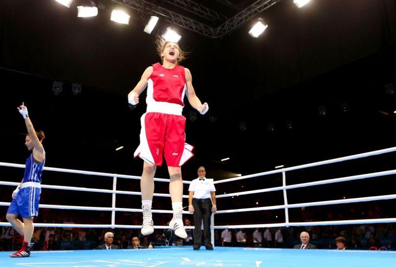 Radość Katie Taylor po zwycięskiej walce (fot.Getty Images)
