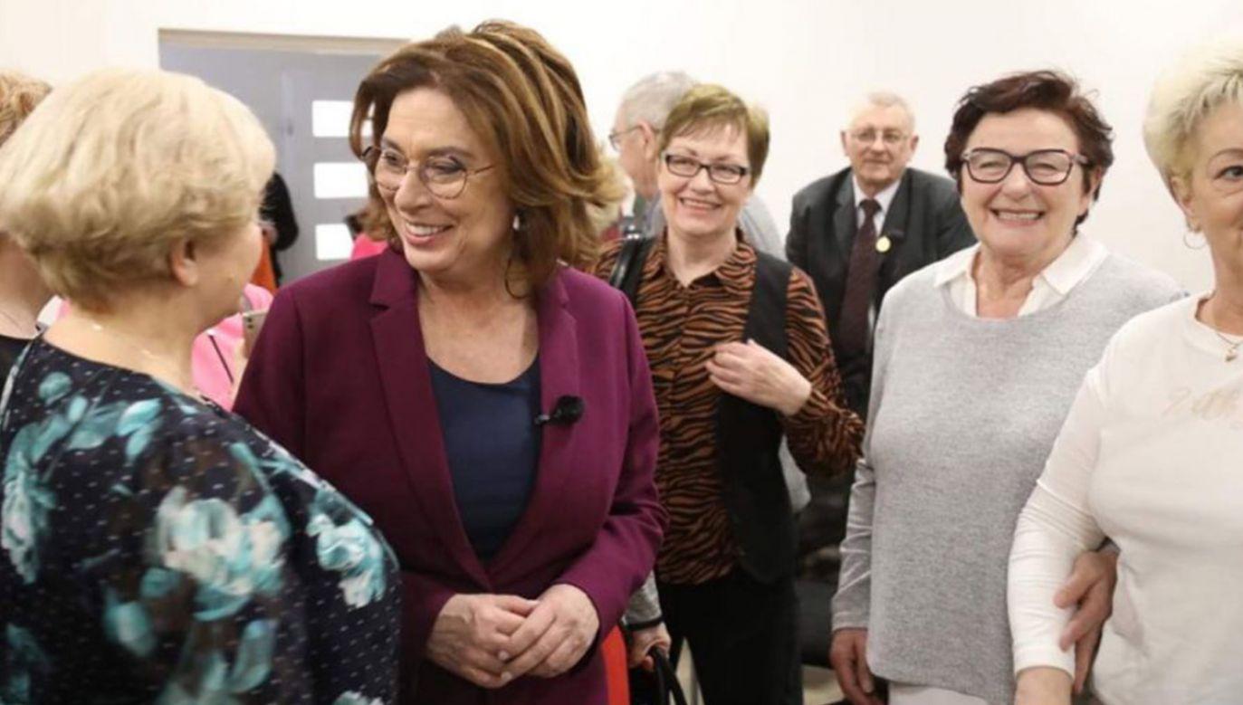 W poniedziałek Małgorzata Kidawa-Błońska spotkała się z mieszkańcami Sierpca w Centrum Kultury i Sztuki (fot. TT/@M_K_Blonska)